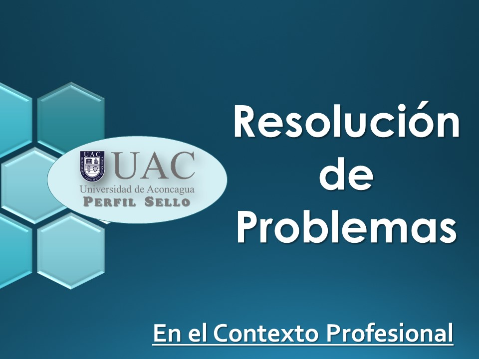 Curso Sello - Resolución de Problemas en el Contexto Profesional